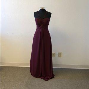 Maroon chiffon dress